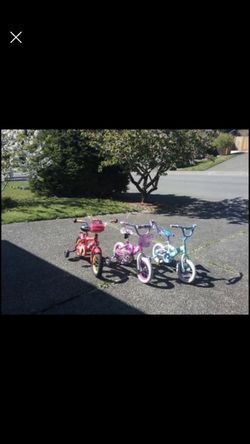 "Child Kid Children Balance Bike 12"" Wheels Bicycle Tricycle Trike Like New $35 Each for Sale in Federal Way, WA"