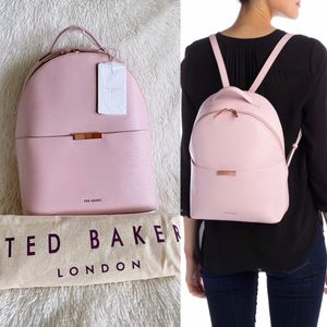 ✨New TED BAKER LONDON Jenyy Faceted Bow Leather Backpack Light Pink NWT for Sale in Sugar Land, TX
