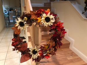 Fall wreath arrangement for Sale in Fresno, CA