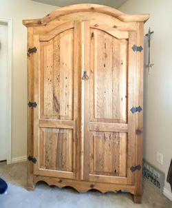 Oak antique armoire cabinet for Sale in Stansbury Park,  UT
