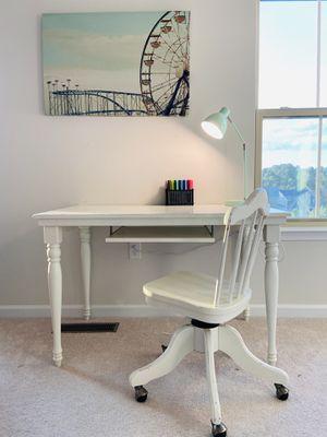 Pottery Barn desk & chair for Sale in Charlottesville, VA