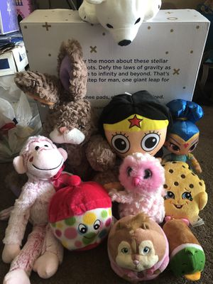 Lot of plush toys! Great characters and cute animals! for Sale in Laurel, MD