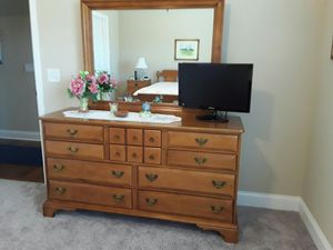 Dresser, mirror, nightstand & FULL bed frame $375.00. + Mahogany Dresser & Mirror $225.00 for Sale in Cleveland, TN