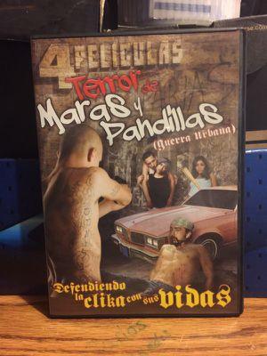 4 películas temor maras y pandillas (guerra urbana) for Sale in Houston, TX