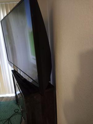 66 inch mitsubishi tv & nice wood dresser for Sale in Las Vegas, NV