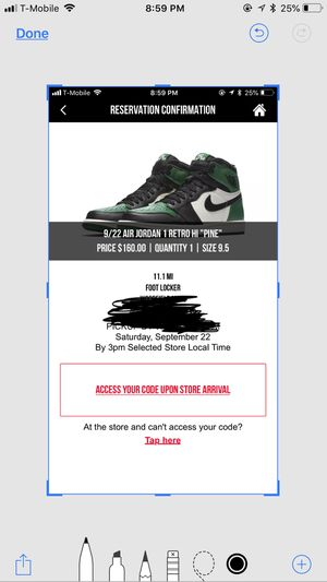 Jordan 1 Pine Green size 9.5 with receipt for Sale in Chicago, IL
