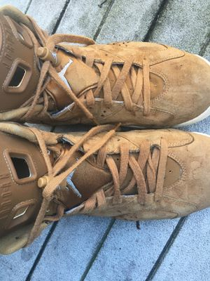 Jordan 6 wheat retro size 10.5 fits 10 or 11 well though for Sale in Woodbridge, VA