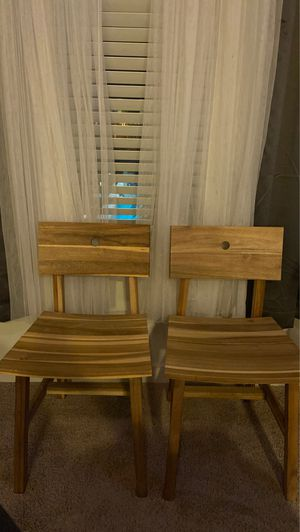 Two wooden ikea chairs for Sale in Salt Lake City, UT