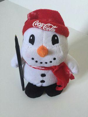 Coca cola snowman stuffed toy plush plushie for Sale in San Leandro, CA