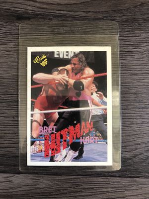 Wwf classic vintage collectible Bret hart card for Sale in Los Angeles, CA