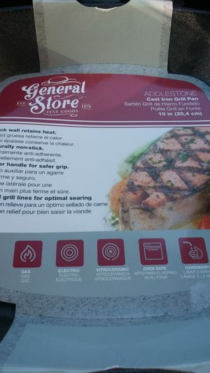 10in CAST IRON GRILL PAN for Sale in St. Louis, MO