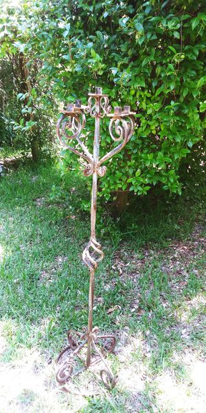 Rustic Metal Candleholder for Sale in Pflugerville, TX