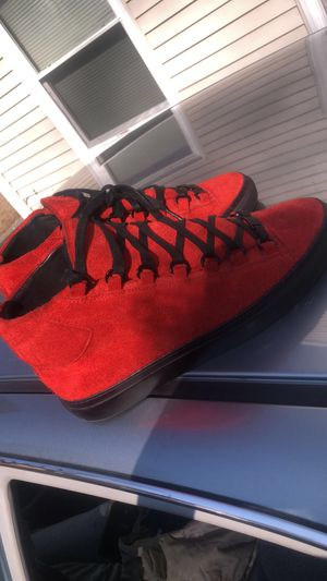 Balenciaga Arena High Top Black And Red for Sale in Southbridge, MA