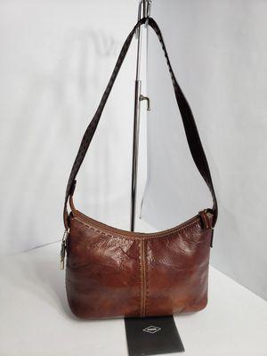 Vintage Fossil 1954 Genuine Leather Purse Shoulder Bag Tote ZB9092 for Sale in San Antonio, TX
