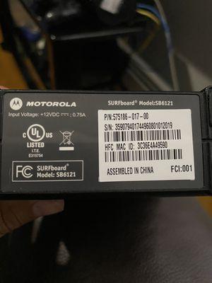 Motorola Modem sb6121 for Sale in Newark, NJ