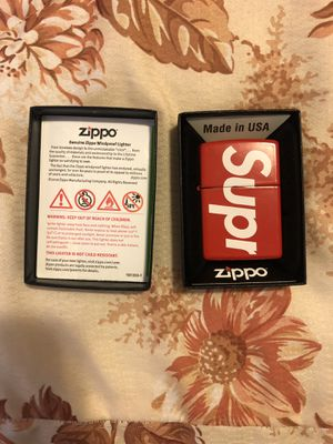 Supreme Logo Zippo Red for Sale in Garden Grove, CA