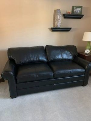 Full Sleeper Sofa Bed Leather by Ethan Allen for Sale in Pleasanton, CA