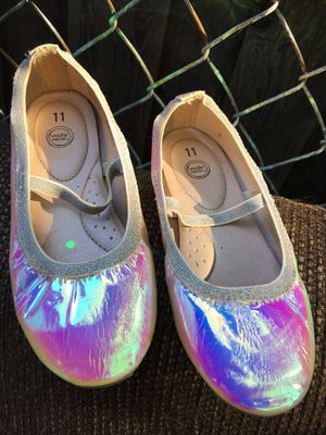 Use one time girl flats size 11 $20 for Sale in Mesquite, TX