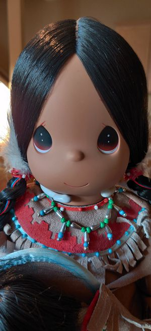 Native American Precious Moments Doll White Feather / Little Feather 1998. for Sale in Wesley Chapel, FL