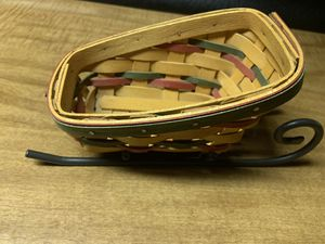 Longaberger small sleigh basket for Sale in Middleburg, PA