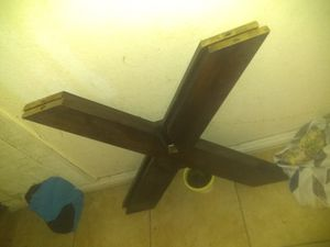 Foldable Wooden table base, 30 inches tall 33 inches wide for Sale in Hesperia, CA