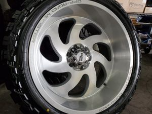 """22x12 Monster Off Road Wheels and 33"""" Tires for Sale in Orange, CA"""