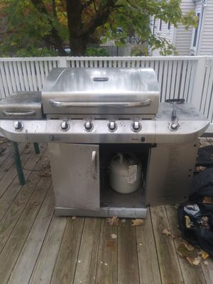 Industrial BBQ Grill with cover and two tanks for Sale in Canton, MA