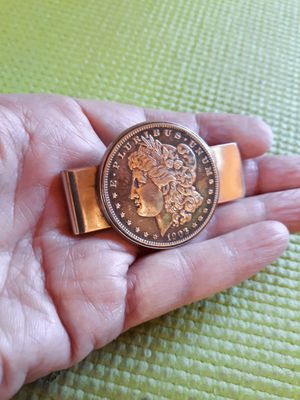 1903 Morgan Silver Dollar money clip, very nice condition for age. for Sale in Glendora, CA