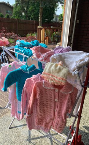 Baby/kids hand knitted clothes for Sale in Willow Springs, IL