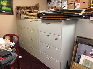 Filing Cabinets 8 4 drawer 2 tall for Sale in Houston, TX