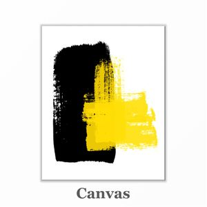 Yellow and black abstract wall art print for Sale in Grand Haven, MI