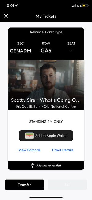 Scotty Sire ticket for Sale in Greenwood, IN