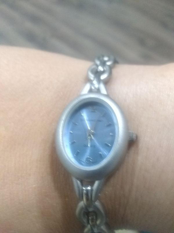 Silver Quartz bracelet watch