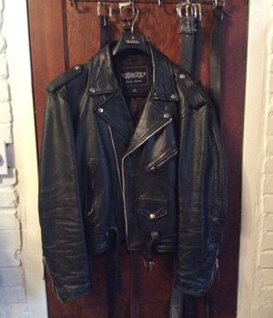 Leather motorcycle jacket for Sale in Webster Groves, MO