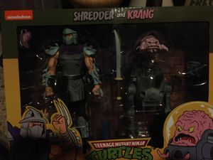 Neca TMNT shredder and Krang 2 pak pack Teenage Mutant Ninja Turtles action figures for Sale in Diamond Bar, CA