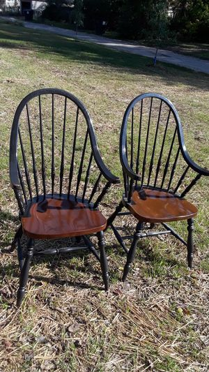 Oak and painted chairs pair for Sale in Columbus, OH