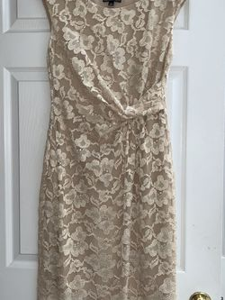 Dressbarn champagne color Lacey Dress for Sale in Miller Place,  NY