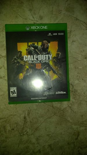 BO4(BLACK OPS 4) For XBOX ONE for Sale in Las Vegas, NV