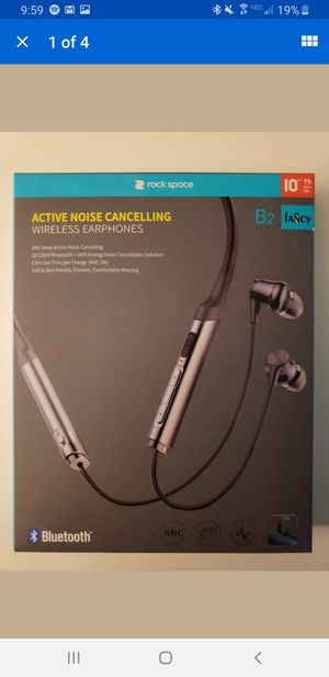 Rock Space B2 Fancy Active Noise Cancelling Headphones Earbuds Earphones - NEW for Sale in Las Vegas, NV
