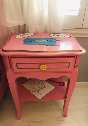 Hand Painted Vintage Night Stand for Sale in Henderson, NV