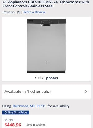 GE Dishwasher-Stainless Steel (New) for Sale in Baltimore, MD