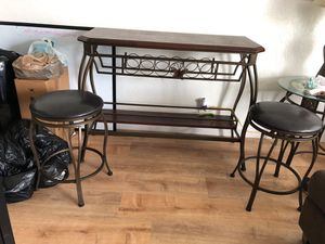 Bar and two stools - MOVING AWAY SALE!!! for Sale in North Bay Village, FL