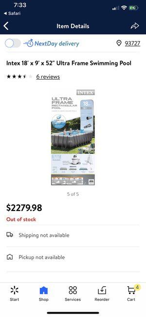 "Pool Intex 18'x9'x52"" for Sale in Fresno, CA"