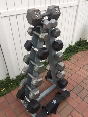 Free weight equipment full home gym dumbbell set for Sale in Mercer Island, WA