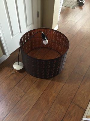 Round drum lighting fixture for Sale in Reedley, CA