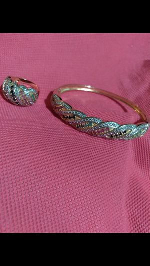 14k Gold over Sterling Silver Ring and Bangle set for Sale in Dade City, FL