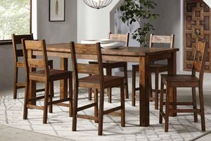 7pc Rustic Counter High Dining Table @Elegant Furniture for Sale in Fresno, CA
