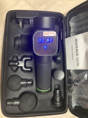 ❗️Quite ❗️ Massage Gun, Upgraded 6 Adjustable Speeds Handheld Vibration Deep Tissue Muscle Massager Device - with 6 Massage Heads and Portable Bag for Sale in El Cajon, CA