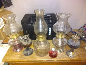 Vintage oil lamps lot for Sale in Clearwater, KS