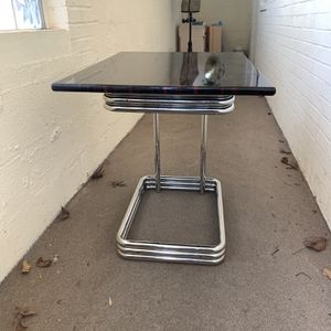 Vintage Style Chrome and Ebony Table for Sale in Bethesda, MD